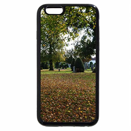 iPhone 6S Case, iPhone 6 Case (Black & White) - Cemetery in Autumn