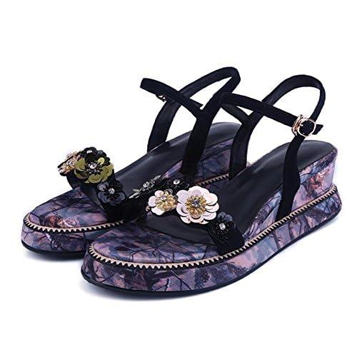 Terciopelo Tobillo Zapatos Mujer Correa Sandalias Nuevo De rCxWodBe