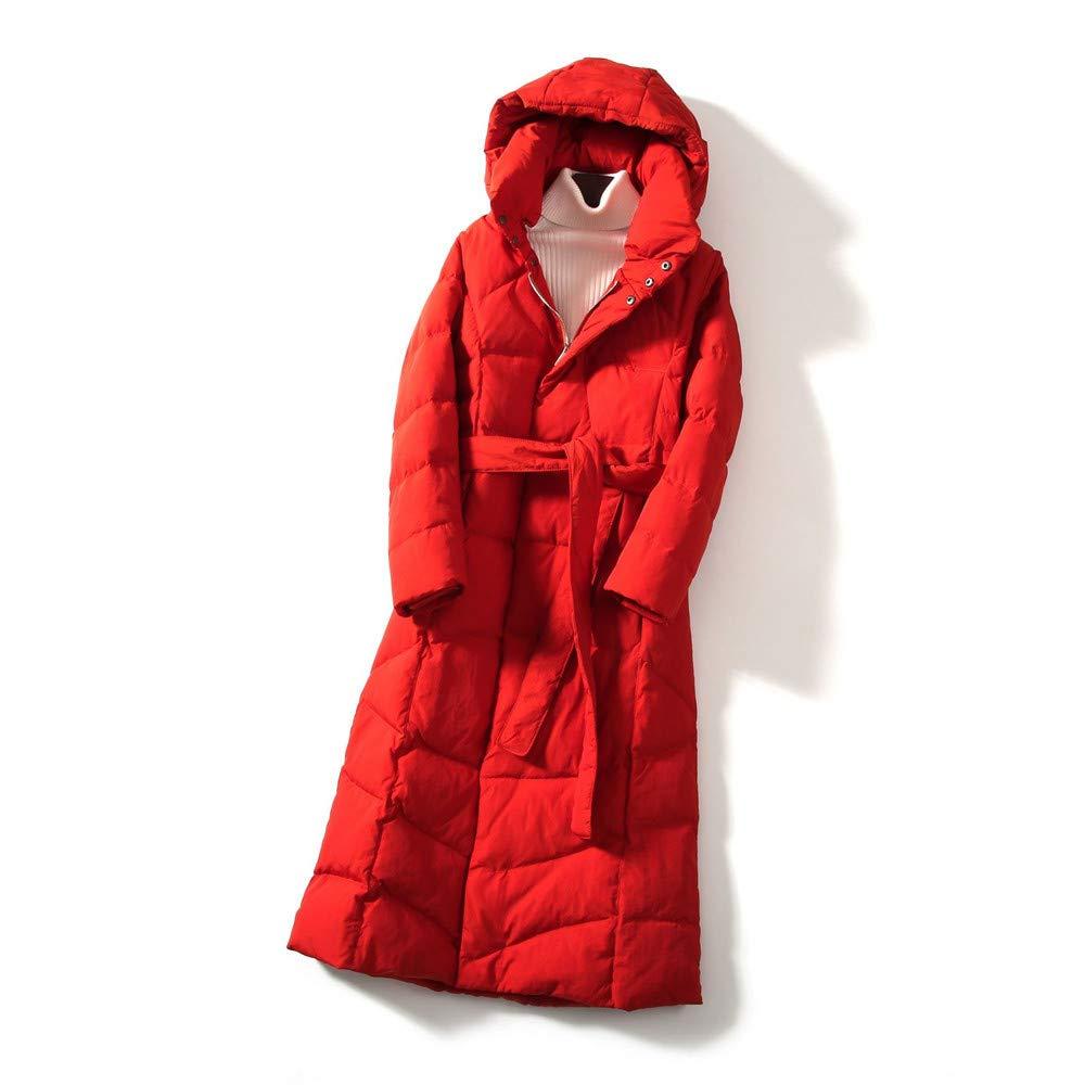 MINMINA Herbst- und Winterfrauenneue Daunenjacke der Frauen koreanische Mode-Daunenjacke fallende Hüfte Daunenjacke der Daunenjacke, weiß, S