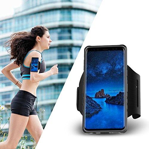 Galaxy S9 Funda, CHENXI 2 en 1 Brazalete Deportivo Estuche Protector Carcasa Armband Funda de TPU Case Cover Desmontable Banda Case para Samsung Galaxy S9 Negro Gris