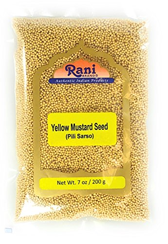 Rani Yellow Mustard Seeds Whole Spice 7oz (200g) ~ All Natural | Vegan | Gluten Free Ingredients | NON-GMO | Indian Origin