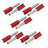 DealMux 1/4 x 1/2-inch Woodwork Double Flutes Straight Router Bit Cutter 10pcs