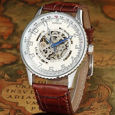 Relojes cuadro hombre Reloj sumergible de la marca de los hombres de luxe automático huecos relojes mecánica Reloj de pulsera para hombre: Amazon.es: ...
