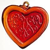 Kitras Red Pattern Heart Jewel Suncatcher