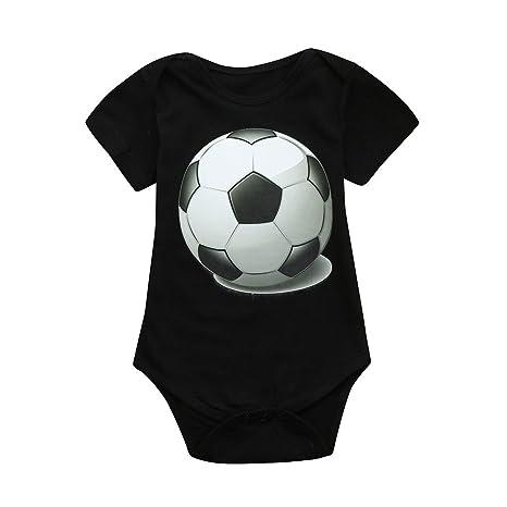 feiXIANG Bebé recién Nacido Niño Primavera Verano Bebé Niño Niña Copa Mundial Copa de fútbol Camiseta