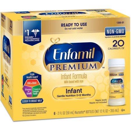 Enfamil PREMIUM Infant Formula, Ready to Use - 2 fl oz Bottles (Case of 48)