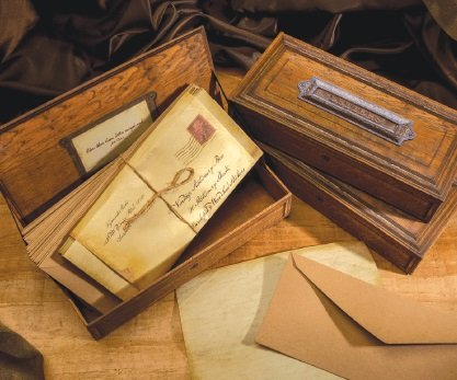 Figments Studio Vintage Collection Brown Stationery Box