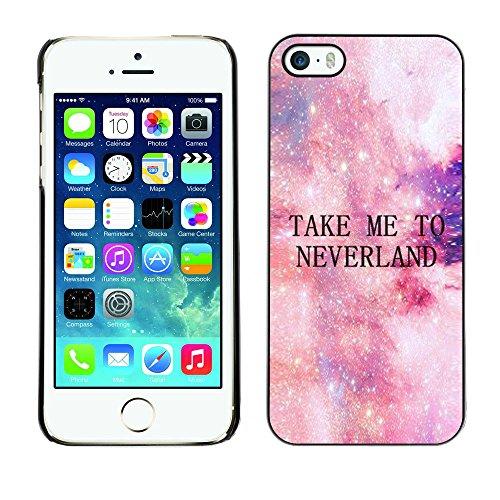 Ziland / Premium Slim HD plastique et d'aluminium Coque Cas Case Drapeau Cover / To Neverland Stars Cosmos Sky / Apple iPhone 5 / 5S