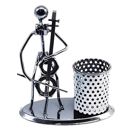 MLpus Fashion Simple Metal Pen Holder Student Desk Decoration Decoration Gift Birthday (Cello)