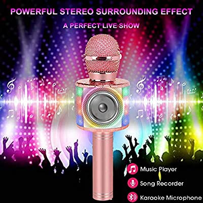 Niskite Most Popular Toys for 4 5 6 Year Old Girls Gifts,Wireless Karaoke Microphone for Kids Age 7-16,Hottest Birthday Presents for 8 9 10 11 12 Young Preteen: Toys & Games