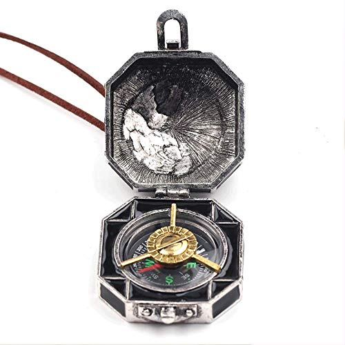 Give Gift Compass Pirates of The Caribbean Necklace Box Jack Sparrow for Women and Men ()