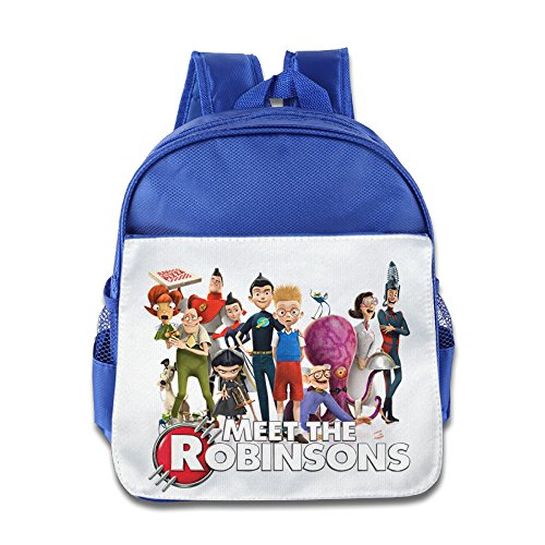 XJBD Custom Cool Meet The Robinsons Children School Backpack For 1-6 Years Old RoyalBlue (Evolution Toys Wwe)
