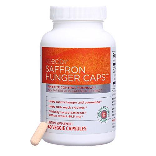 Hunger Control (Re-Body - Saffron Hunger Caps, Appetite Control Formula, 60 Veggie Capsules)