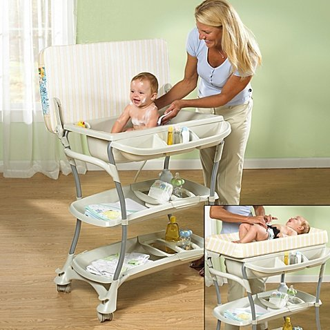 Primo Euro Spa Baby Bath Tub with Changing Table
