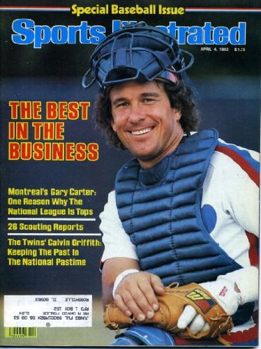 Sports Illustrated April 4 1983 Gary Carter/Montreal Expos on Cover, Special Baseball Issue, Calvin Griffith/Minnesota Twins, NCAA Final Four - Georgia & NC State & University of Louisville & Houston, Martina Navritilova/Tennis