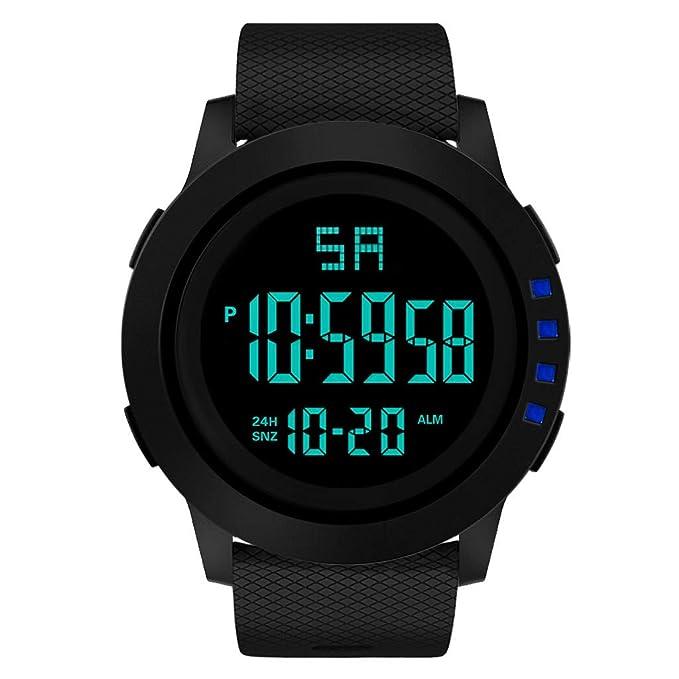 Mymyguoe Reloj de Pulsera Hombre Deportivo Hombres analógico Digital Militar Deporte LED Impermeable Reloj de Pulsera Unisex Reloj de Pulsera Reloj Mujer: ...