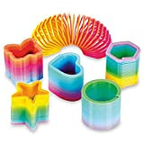 Toys : 50 Assorted Mini Rainbow Spring Slinky Toy - Great for Birthday Party Favors