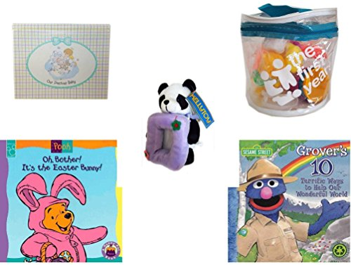 Children's Gift Bundle - Ages 0-2 [5 Piece] Includes: Precious Moments ''Our Precious Baby'' Photo Brag Book, The First Years 21 Piece Set In Reusable Tote, Kellytoy Panda Bear Photo Frame Plush 7'', O by Secure-Order-Marketplace Gift Bundles