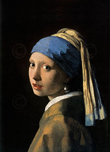 (Girl with a Pearl Earring Jan Vermeer Vintage Portrait Poster (Choose Size, Print or)