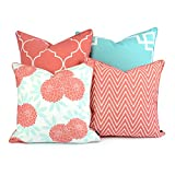 Mix and Match - Hofdeco decorative throw pillow case cushion covers will give you more inspiration to decor your outdoor and indoor places with chic Spring and Chinoiserie inspired design. Floral pillow covers are perfect match for where ther...