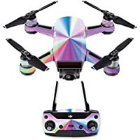 Skin for DJI Spark Mini Drone Combo - Rainbow Zoom| MightySkins Protective, Durable, and Unique Vinyl Decal wrap cover | Easy To Apply, Remove, and Change Styles | Made in the USA