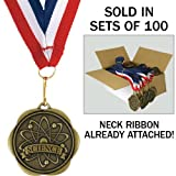 Set of 100 Award Medals with Neck Ribbons - Science