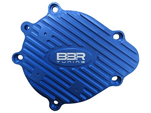 BBR Tuning 2-Stroke Motorized Bicycle Engine Billet Aluminum Gear Case Cover - Gas Bike Gear Cover Accessory Upgrade (Blue)