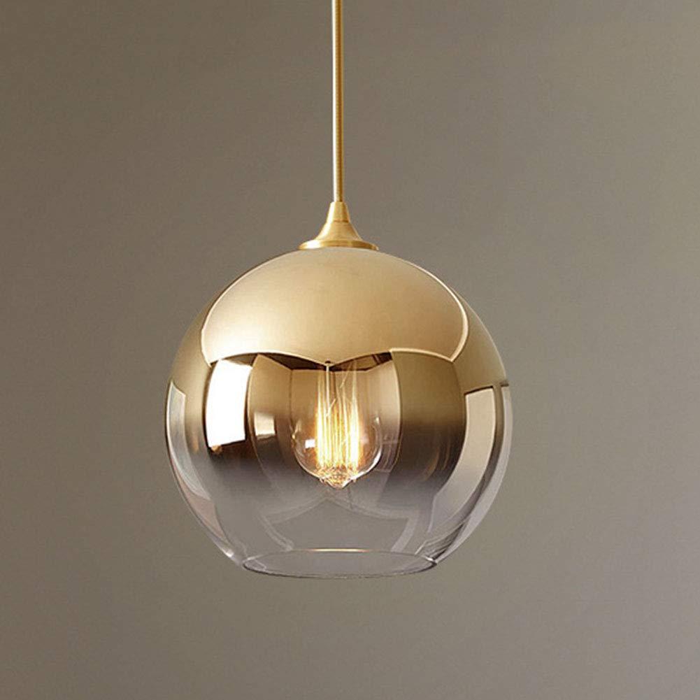 CAVEMAN Kronleuchter Modernes Unbedeutendes Steigungsglasballleuchterschlafzimmerbettwohnzimmerteerestaurantcafé, E27,30cm