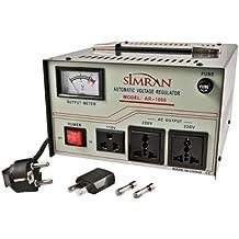 Simran AR 1000-watt Voltage Regulator/Stabilizer with Built-In Step Up/Down Voltage Transformer (Grey)