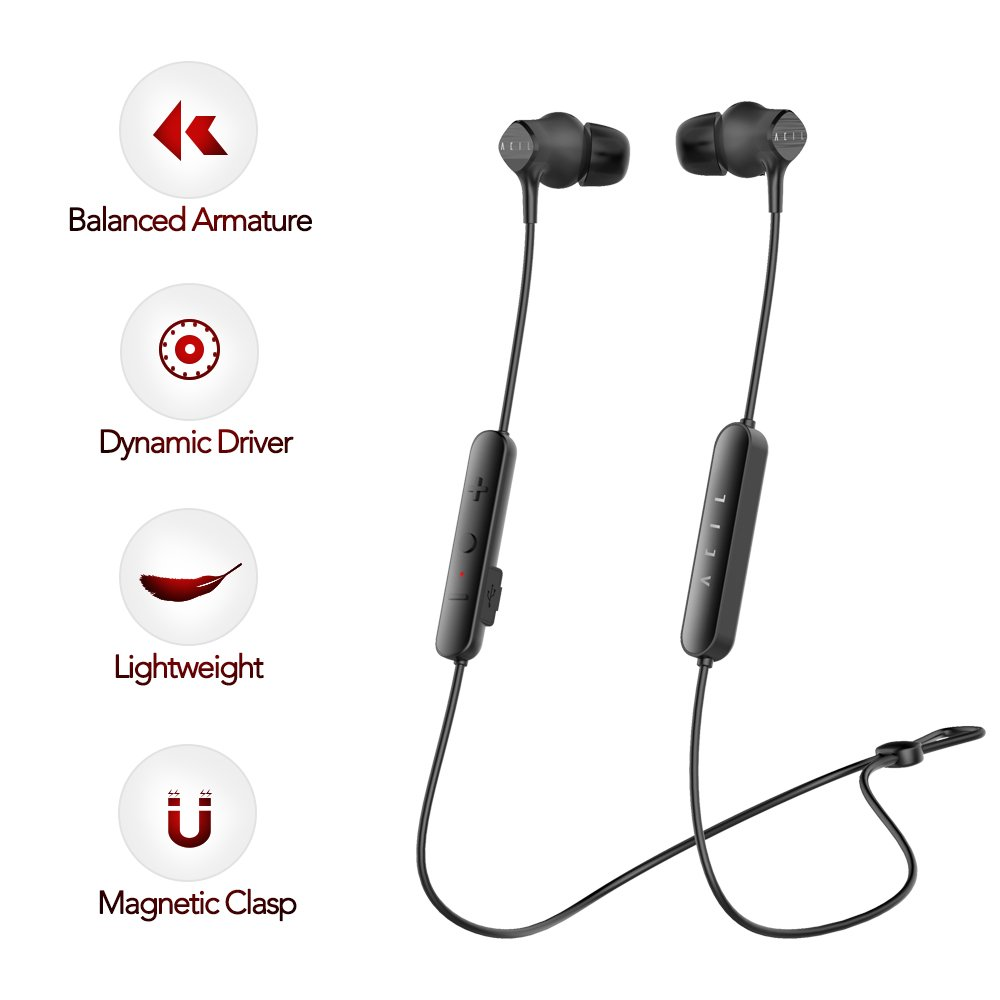 Wireless Earbuds - Stereo Bluetooth In-ear Earphones, Dynamic Driver & Knowles Balanced Armature, High-fidelity Bluetooth Earbuds, Noise-cancellation Headphones, Up to 98% at High Frequency Band by ACIL