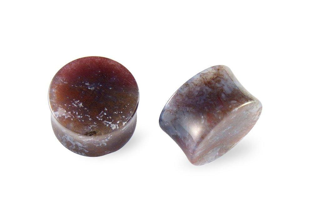 Pair Carnelian Agate Stone Plugs 13mm - 1/2