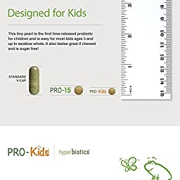 PRO-Kids: Children\'s Probiotics - 60 Tiny, Sugar Free, Once Daily, Time Release Pearls - 15x More Effective than Capsules - Recommended with Vitamins - for Kids Ages 3 and Up - Very Easy to Swallow