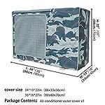 Copertura-Condizionatore-EsternoCoperchio-del-climatizzatore-per-esterni-Anti-Polvere-Anti-Neve-Impermeabile-Protector-Climatizzatore-Camouflage-blu-mareL