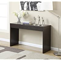 Modern Style and Solid Wood, Console Table with Suits, Espresso Includes Our Exclusive Mouse Pad