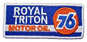 ROYAL TRITON UNION 76 Motor Oil Gas Station emblem Embroidered Iron or Sew on Patch by Wonder Fullmoon