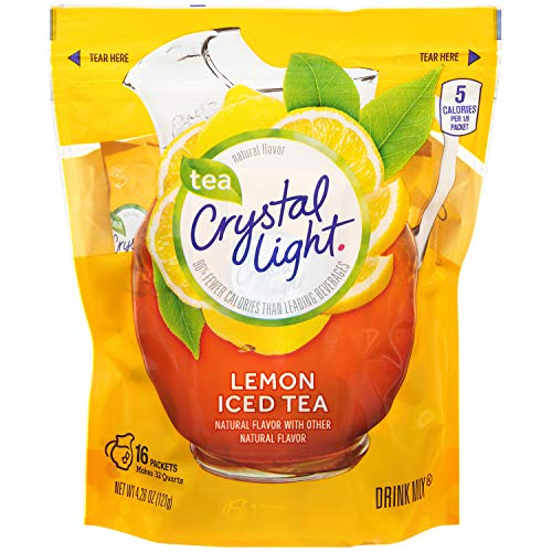 - Crystal Light Natural Lemon Iced Tea Drink Mix (16 Pitcher Packets)