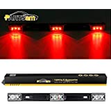 """Partsam 1 14"""" Clear/Red 3Lamp ID LED Light Bar Tailgate Mount For Dodge RAM 1500 2500 3500 Sealed ID Light Bar Clearance"""
