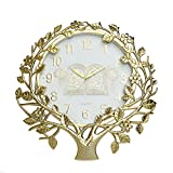 Jeteven 22 Inch Retro Wall Clock Silent Non Ticking Quality Quartz Battery Operated Antique Vintage Plastic Wall Clocks Large Decorative Islamic Wall Clock Gold Style 3