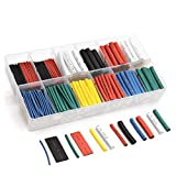innhom Heat Shrink Tubing 532pcs Ratio 2:1 Insulation Protection Flame Retardant Heat Shrink Tube Sleeving Wrap Car Electrical Cable Wire Kit Set in a clear plastic box 3 Year Warranty