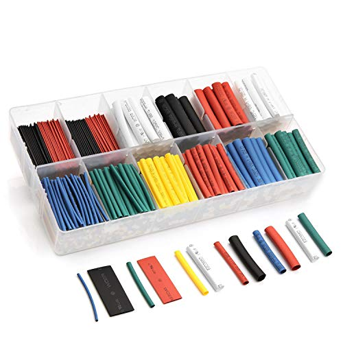 532pcs Heat Shrink Tubing innhom Heat Shrink Tube Wire Shrink Wrap UL Approved Ratio 2:1 Electrical Cable Wire Kit Set Long Lasting Insulation Protection, Safe and Easy, Eco-Friendly - Insulation Cable