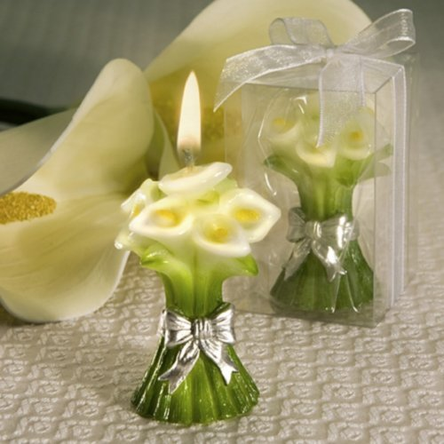 Calla Lily Bouquet Scented Candle (Wedding Lilly Flowers Favor)