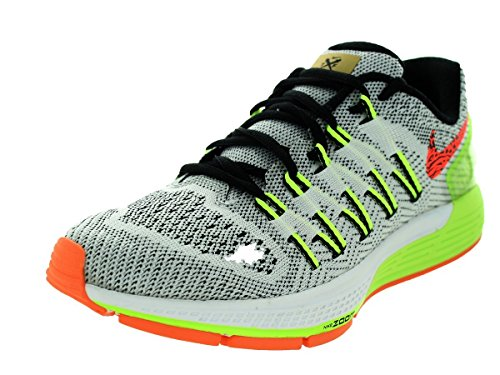 Nike Wmns Air Zoom Odyssey, Zapatillas de Running para Mujer White/Black/Volt/Hyper Orange