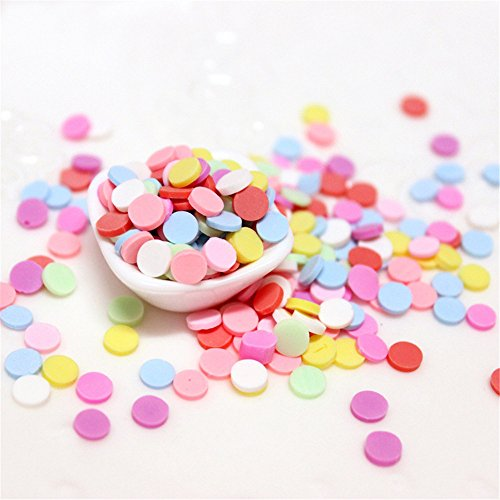 100g Mixed Color Clay Chocolate Sprinkles Heart Shaped DIY Parts Fake Cake Decorating Polymer Clay Sweets Deco Fimo Decoration (C) (Handmade Fimo Clay)