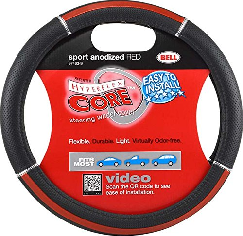 Bell Automotive 22-1-97463-9 Universal Neoprene Sport Anodized Red Steering Wheel Cover
