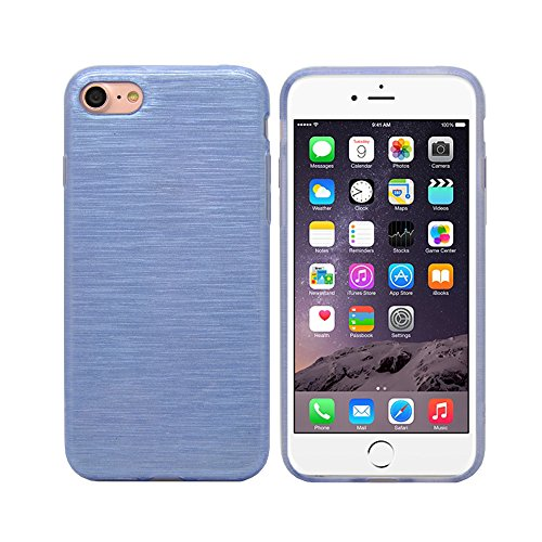 iProtect Apple iPhone 7, iPhone 8 Hülle Soft Case TPU Schutzhülle Brushed Edition Lila