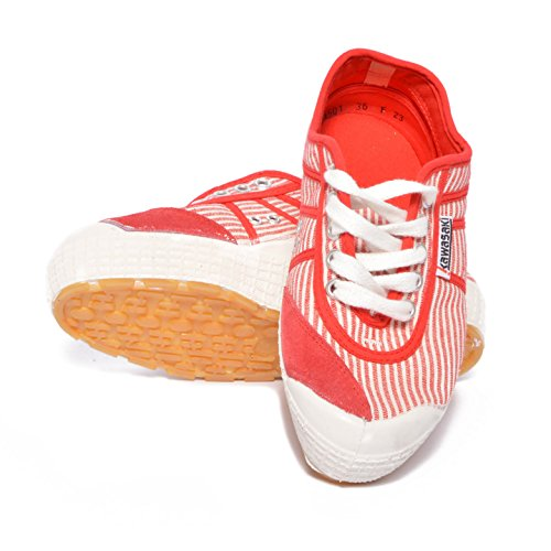 Kawasaki scarpe sneakers canvas 87-PRX3 Plateau Fantasy Marines Red White