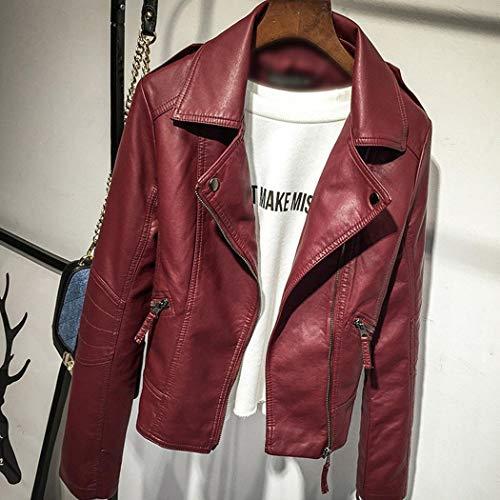 Blouson Ysmklo Ysmklo Blouson Bordeaux Femme Rouge wxv8BT4x