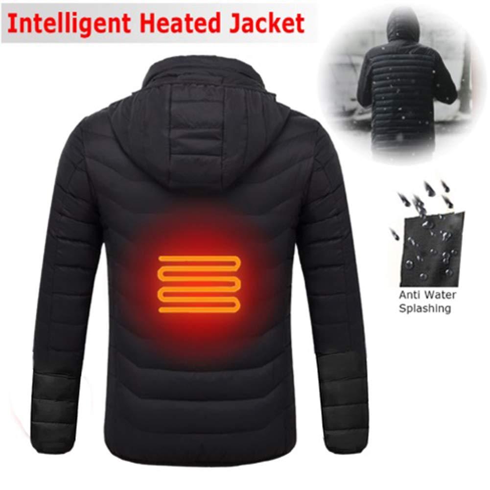 Zooarts Giacca da Uomo riscaldata con Cappuccio Invernale da Lavoro Cappotti Regolabili per Il Controllo della Temperatura manufacture