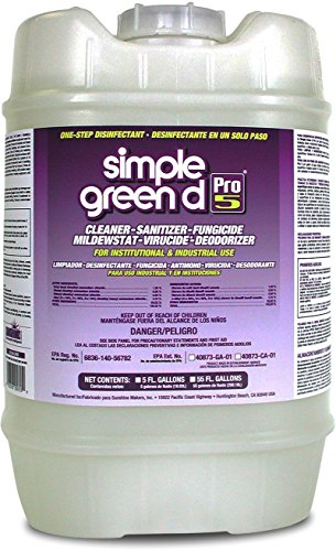 Simple Green 30505 d Pro 5 One-Step Disinfectant, 5 Gallon Pail from Simple Green
