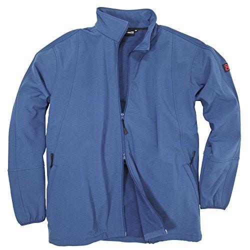 Blaue Softshelljacke von marc&mark in Übergrößen bis 10XL